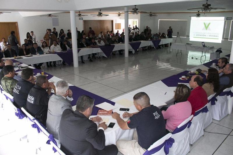 Ceja Barrera les dio  a conocer que en Zamora existe una Unidad Regional de la CEEAV que se encuentra ubicada en Plaza Comercial Madero interior 8 (Madero Sur # 33 colonia Centro), la cual puso a la orden para servir como enlace con las diversas instituciones de seguridad de la región