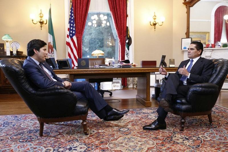 Silvano Aureoles hizo una invitación al senador hispano para que visite la entidad michoacana y conozca el trabajo que también se lleva a cabo en los municipios del estado para frenar el flujo migratorio