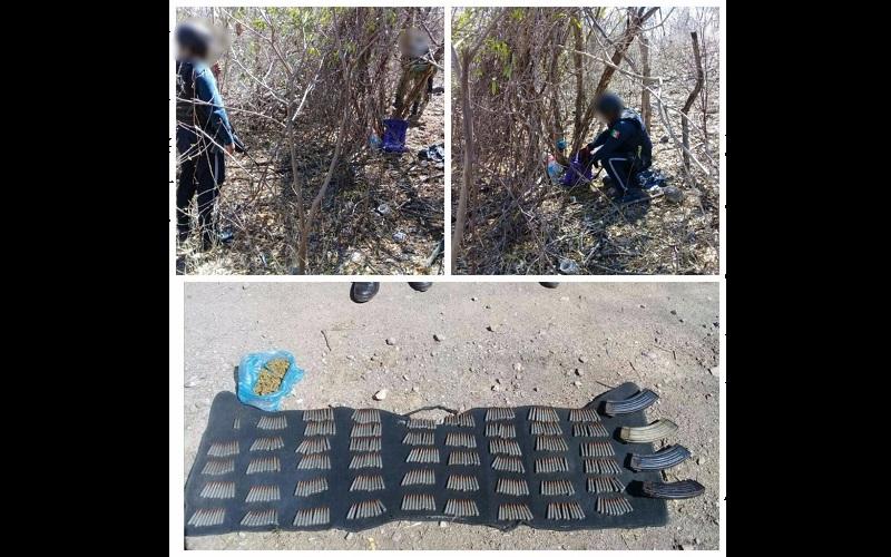 Los cartuchos, cargadores y droga fueron puestos a disposición de la autoridad competente para continuar con las investigaciones