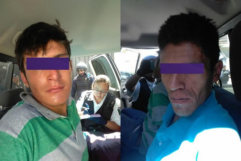 José M. de 23 años de edad y Efraín P. de 26 años de edad, mismos que fueron puestos a disposición del Ministerio Público para que se defina su situación legal