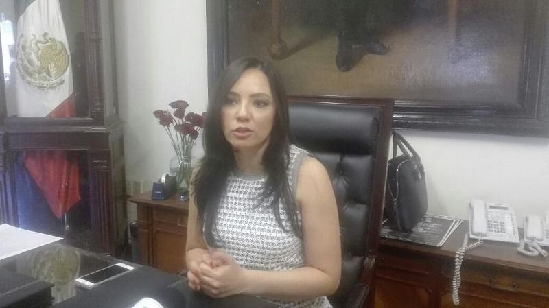 """La diputada Adriana Hernández afirmó que si se mejora la seguridad en Morelia """"se estaría hablando de que se mejora en 60 por ciento casi, la seguridad de Michoacán"""""""