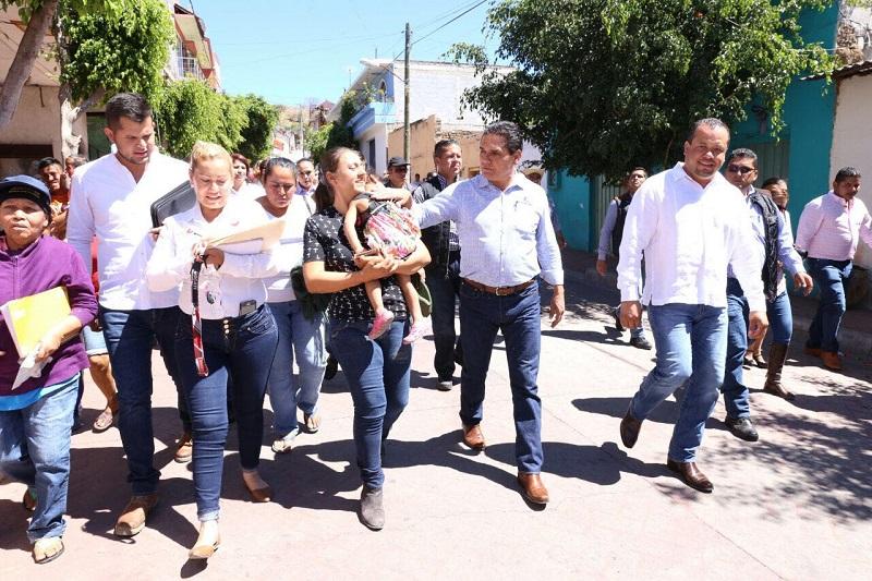 Aureoles Conejo, recordó que las acciones se enfocarán en cuatro ejes tal y como lo ha realizado en otros municipios y comunidades en materia de desarrollo social, de infraestructura, inversión productiva y seguridad pública