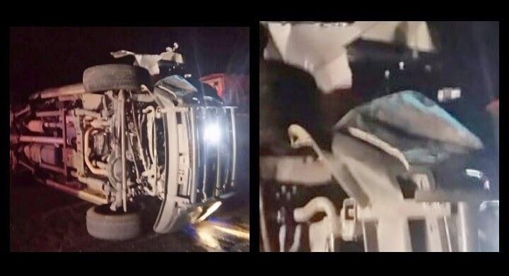 La camioneta y su conductor, identificado como Juan M., fueron asegurados, mientras que los agentes Eleazar A., Osvaldo R., Tamaño T., Reynaldo G. y César G., fueron trasladados a recibir atención médica