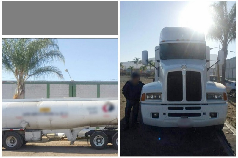 Durante la inspección de la unidad, los uniformados detectaron que el contenedor con capacidad de 30 mil litros se encontraba al 80 por ciento con combustible