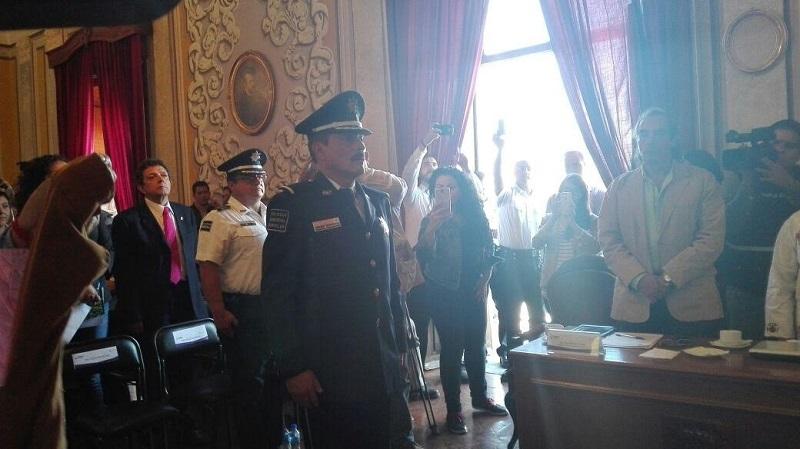 Tras conocerse el resultado de la votación, se rindió protesta al nuevo comisario de Morelia