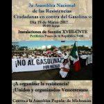 """La CNTE ha convocado a """"los interesados"""" a marchar por el libramiento con esa exigencia como estandarte"""