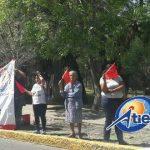 Los manifestantes se encuentran en torno a la Fuente de Las Tarascas, el cruce de la Avenida Acueducto y la Calzada Ventura Puente y la Salida a Charo (FOTO: FRANCISCO ALBERTO SOTOMAYOR)