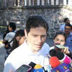 Alfonso Martínez Alcázar reiteró la invitación a seguir trabajando en obras para la capital michoacana (FOTO: Mario Rebollar)