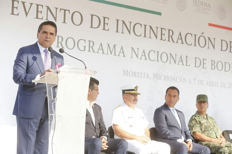 Aureoles Conejo destacó el trabajo permanente que lleva a cabo el Grupo de Coordinación Michoacán para mantener la seguridad en todo el estado