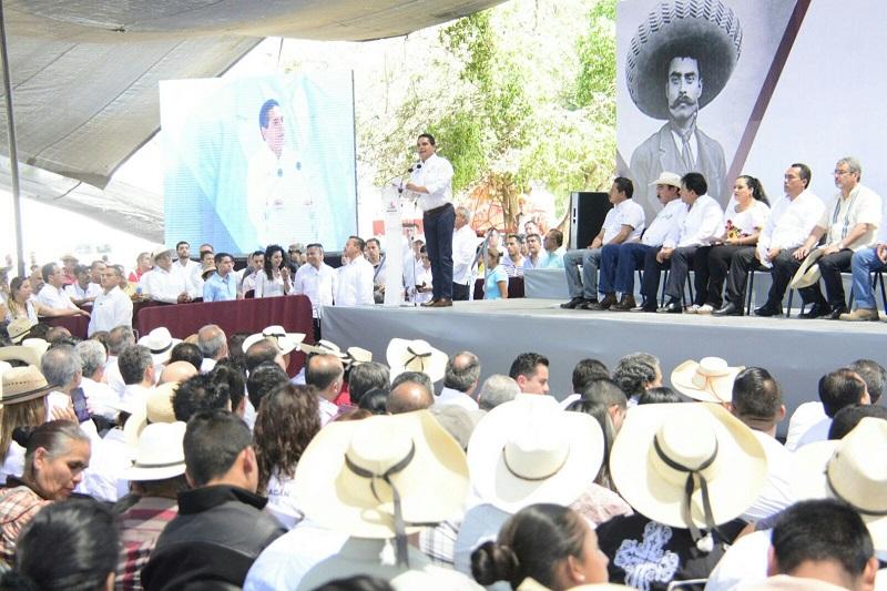 Aureoles Conejo sostuvo que su gobierno será siempre respetuoso de los sistemas de organización tradicional de las comunidades indígenas, sobre todo cuando se trata de expresiones auténticas a sus costumbres y apegadas a derecho