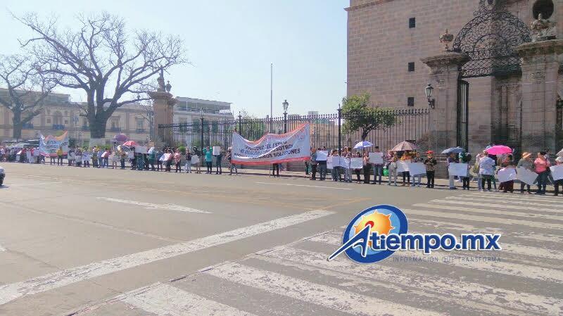 Antorchistas demandan que se cumplan también sus exigencias en el municipio de Hidalgo (FOTO: MARIO REBOLLAR)