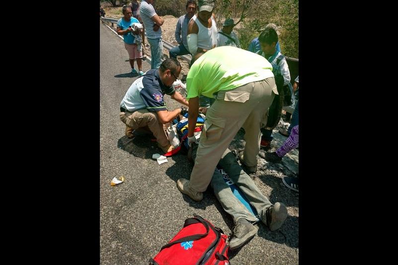 Los hechos se registraron en el kilómetro 43 de la Autopista Siglo 21, donde este jueves se han registrado múltiples accidentes automovilísticos