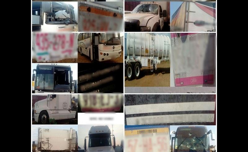 Alrededor de las 22:00 horas, los 10 vehículos comenzaron a ser liberados para de inmediato ser trasladados a la ciudad de Uruapan, donde quedaron a disposición de la Fiscalía Regional