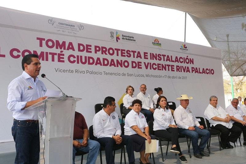 Aureoles Conejo recordó que los comités y consejos ciudadanos trabajan en cuatro ejes prioritarios que son: Desarrollo social, Infraestructura física, Inversión productiva y Seguridad pública