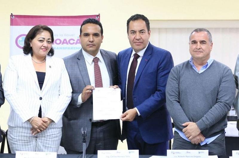 Estrada Esquivel informó que se tiene representatividad en los Ejercicios Locales de Gobierno Abierto en las regiones de Michoacán, y se continúa en sensibilizando y socializando el objetivo y principios de la iniciativa internacional
