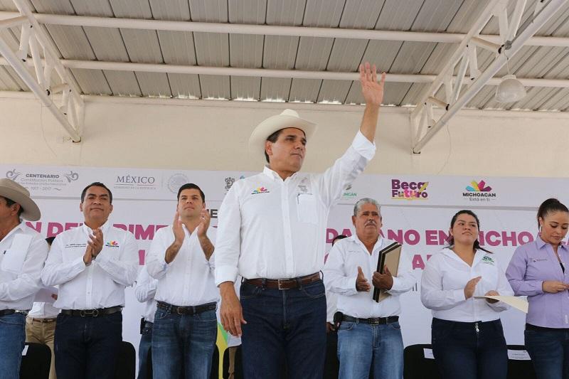 """""""Sin el trabajo de ustedes, sin su compromiso esto no sería posible"""", afirmó Aureoles Conejo a los integrantes del Comité Ciudadano"""