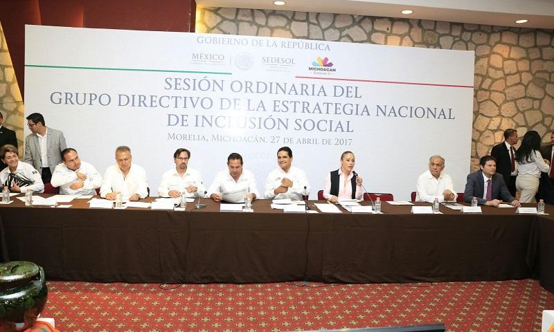 En la Sesión Ordinaria del Grupo Directivo de la Estrategia Nacional de Inclusión Social, se revisaron las acciones, resultados 2016 y metas 2017