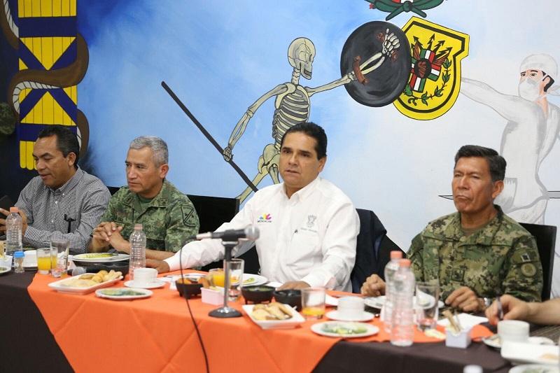 El gobernador encabezó este domingo la reunión del Grupo de Coordinación Michoacán en Apatzingán