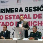 Aureoles Conejo llama a los presidentes municipales a no caer en tentaciones y a continuar los trabajos en el combate a la delincuencia