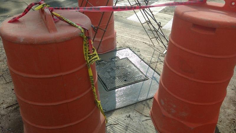 La tardanza en la conclusión de los trabajos provocó desesperación entre los vecinos y usuarios de la zona (FOTOS: FRANCISCO ALBERTO SOTOMAYOR)