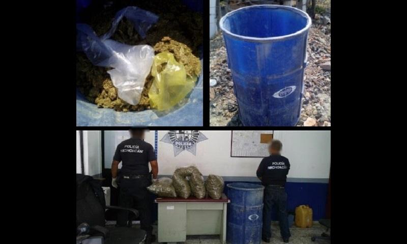 El vehículo y la droga fueron puestos a disposición de las autoridades correspondientes