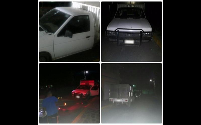 Los vehículos, la droga, armas de fuego, cargadores y cartuchos fueron entregados a la autoridad correspondiente