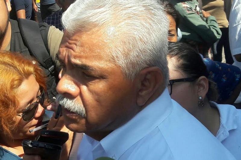 """Valenzuela Cepeda mostró sorpresa cuando dijo que en días pasados """"fuimos notificados de que estábamos emplazados a huelga lo que a todas luces es ilegal porque no hay ni fundamento ni sustento"""""""