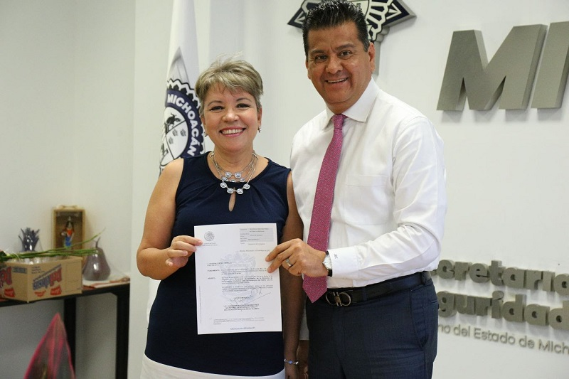 Cortés Carrillo se comprometió a trabajar de manera cercana con la sociedad para cumplir con el objetivo de construir un Michoacán más seguro