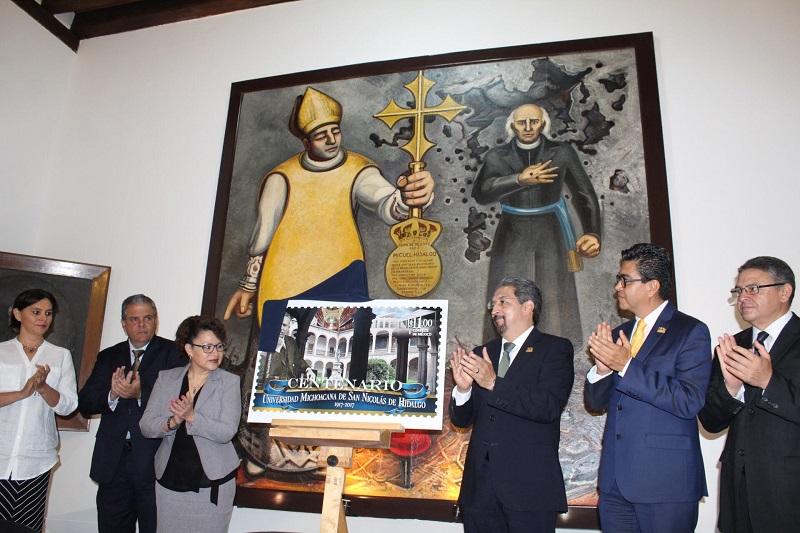 El rector nicolaita agradeció a esta instancia gubernamental por unirse a la celebración del Centenario de la Universidad como la primera autónoma en América Latina