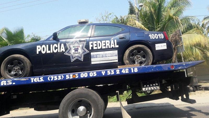 De acuerdo con versiones extraoficiales, los agentes que viajaban en la patrulla lograron repeler la agresión e hicieron huir a los delincuentes (FOTO: FRANCISCO ALBERTO SOTOMAYOR