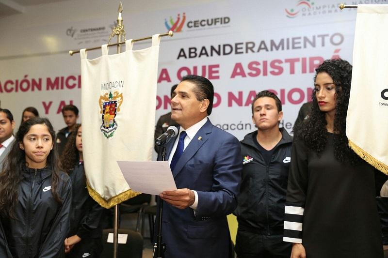 Son 379 los deportistas que representarán a Michoacán en la Olimpiada Nacional y el Campeonato Juvenil 2017