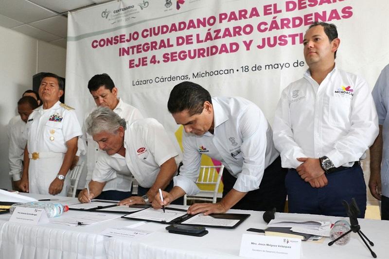 Aureoles Conejo atiende y escucha resultados del Eje 4: Seguridad y Justicia, del Consejo Ciudadano para el Desarrollo Integral de este municipio y urge a elaborar Plan Local para la Seguridad