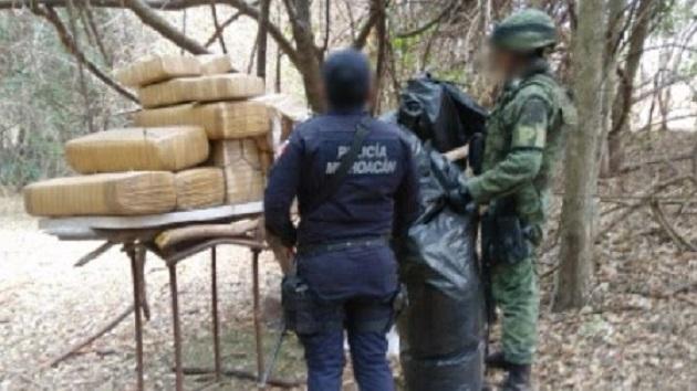 La marihuana y la camioneta fueron puestos a disposición de la autoridad legal