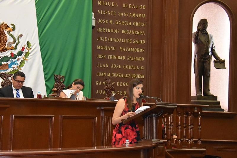 La diputada del PRI exhortó al Gobierno de Michoacán para que se instruya a la PGJE a la creación de la fiscalía regional