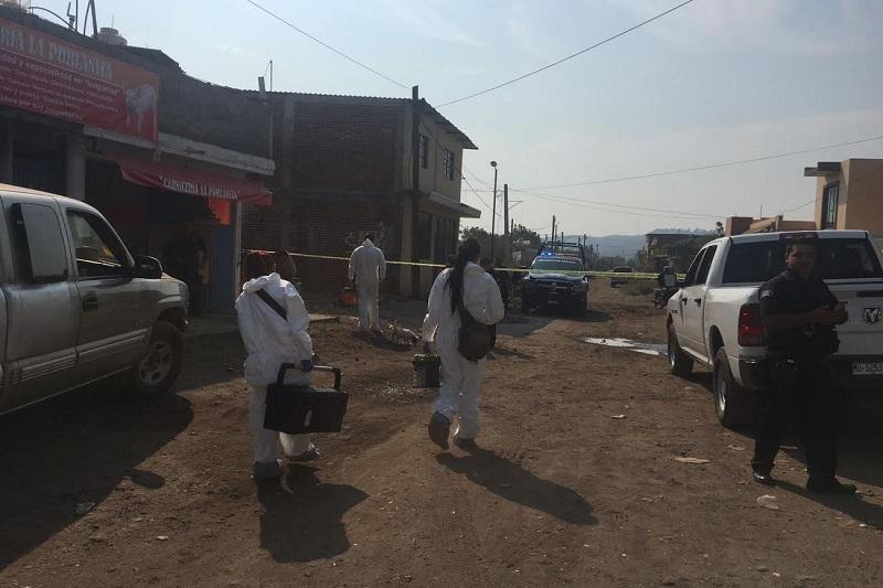 Elementos de la Policía Michoacán implementaron un operativo para dar con el paradero de los agresores sin que se obtuviera resultados positivos