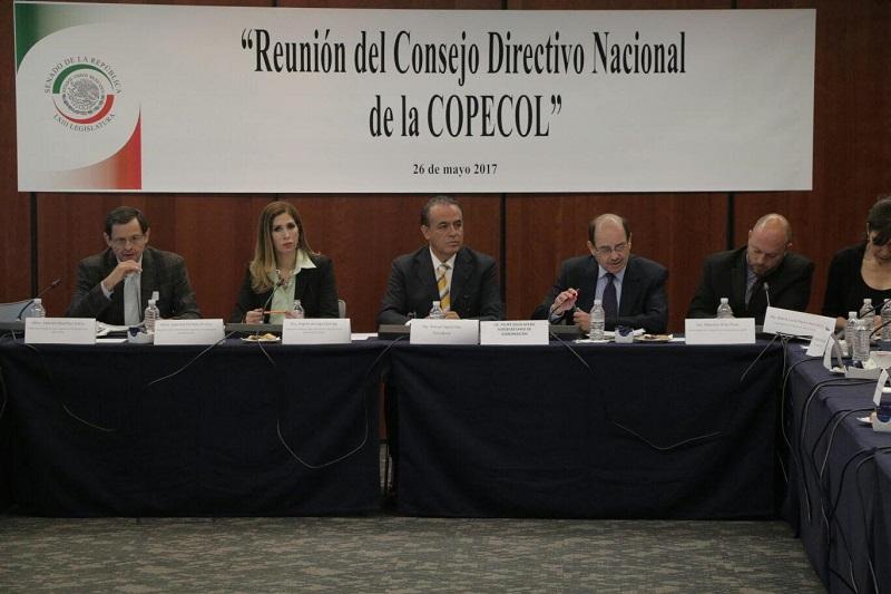 En la reunión, el presidente de la Copecol abordó el tema en relación a las propuestas de los Congresos Locales para apoyar a los migrantes en los distintos estados del país