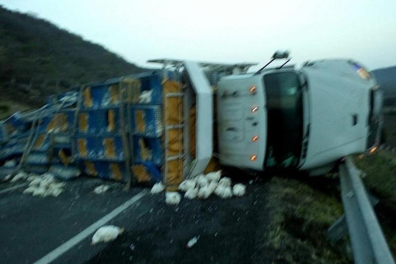 Al lugar arribaron paramédicos de Protección Civil y Policía Michoacán los cuales confirmaron que el conductor se había dado a la fuga