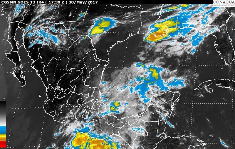 Se prevén tormentas de fuertes a intensas en el noreste, el centro, el sur y el sureste de México