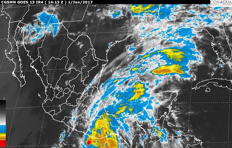 Para hoy se mantiene el pronóstico de tormentas de intensas a torrenciales en zonas de Oaxaca y Guerrero