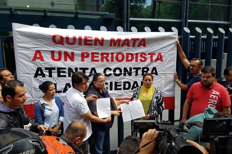En la capital del país, las actividades de los periodistas michoacanos están recibiendo amplia cobertura por parte de medios de comunicación locales y nacionales (FOTO: FRANCISCO ALBERTO SOTOMAYOR)
