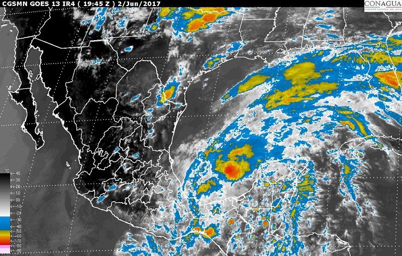 Beatriz, ahora depresión tropical, favorecerá tormentas torrenciales en Puebla, Oaxaca, Veracruz y Tabasco