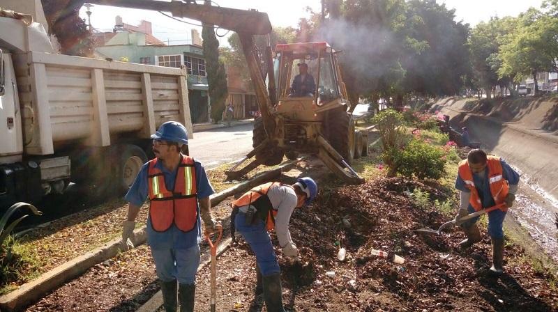 Se limpiaron 850 metros lineales, retirando 47 toneladas de basura y material azolvado.