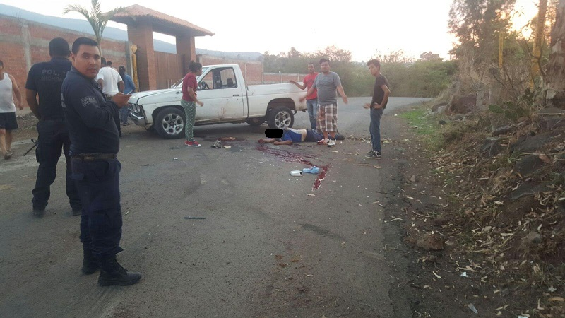 El accidente se registró sobre la carretera que conduce de Ex Hacienda a la colonia Independencia