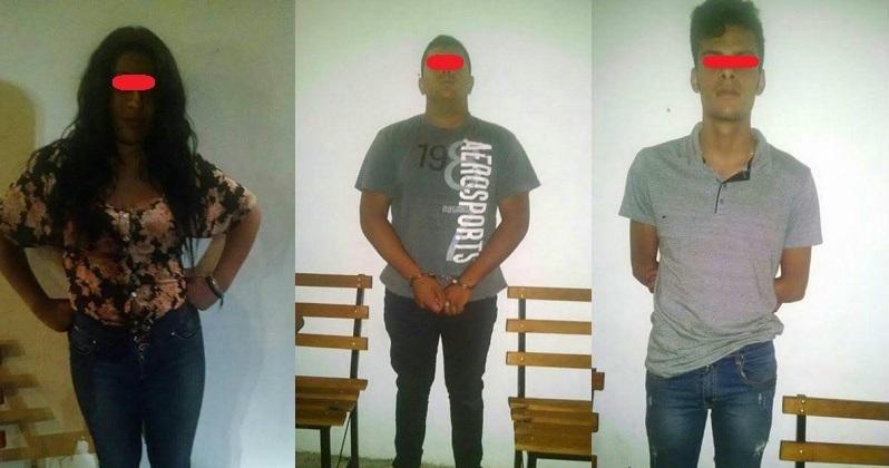 Los tres detenidos y los vehículos asegurados fueron puestos a disposición del Ministerio Público para continuar con la carpeta de investigación