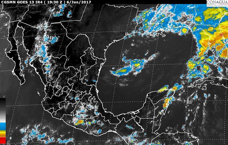 Tormentas muy fuertes se pronostican para Campeche y Quintana Roo; se prevén vientos con rachas superiores a 50 km/h y posibles tolvaneras o torbellinos en Chihuahua, Coahuila, Nuevo León y Tamaulipas