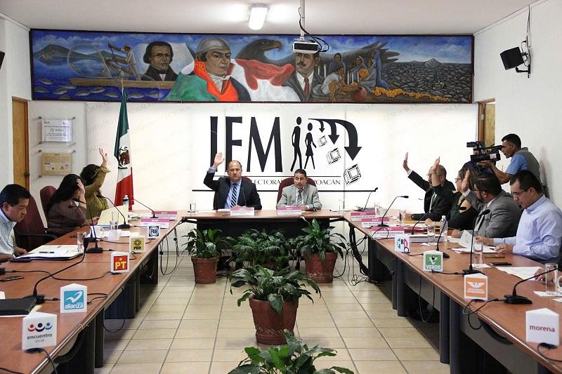 Por unanimidad, el Consejo General ratificó en la presidencia de la Comisión de Organización Electoral  a la consejera Elvia Higuera Pérez y como integrantes a la consejera Yurisha Andrade  Morales y al consejero Humberto Urquiza Martínez