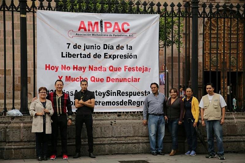 En el Día de la Libertad de Expresión, nada que celebrar y mucho que denunciar, afirmaron periodistas michoacanos
