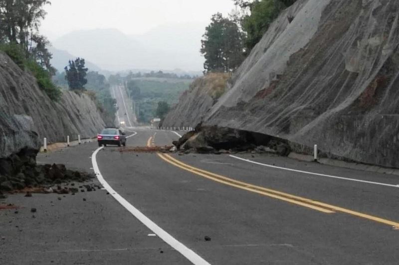 Se presume que la causa del derrumbe son las fuertes lluvias de los últimos días
