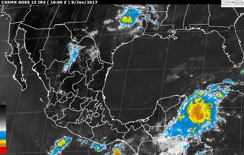 Se esperan tormentas fuertes en sitios de Michoacán, Morelos, Guerrero, Oaxaca, Veracruz, Tabasco y Campeche