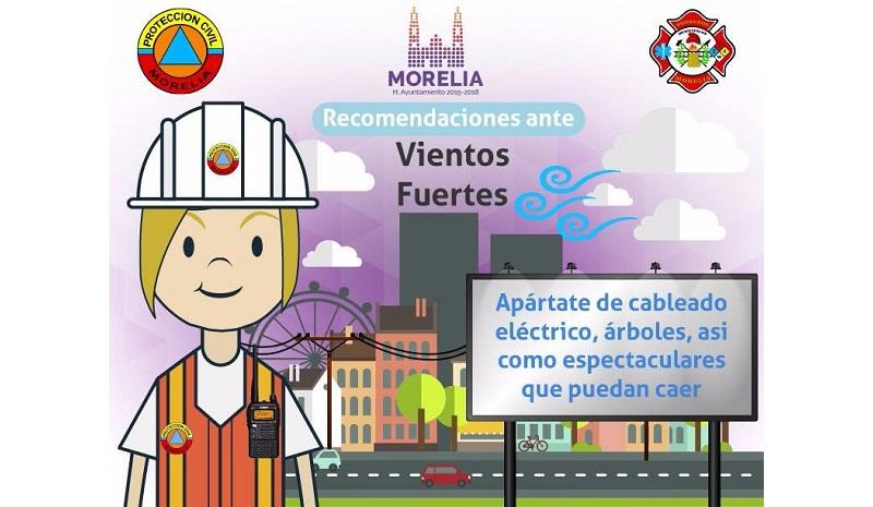 El Ayuntamiento de Morelia subrayó que el apoyo a la población se da de manera continua y los principales teléfonos de ayuda son: Policía de Morelia 113 5000 ext. 116 y 117; Protección Civil 3 22 55 05 y 911; Línea Directa 072; Emergencias 911